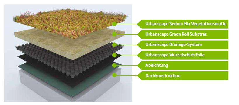 Urbanscape Dachbegrünung