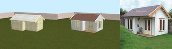 3D-Konfigurator für Gartenhäuser, Blockhäuser und Veranden