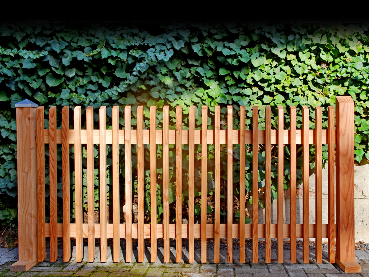 Lärchenholzzaun mit Profil