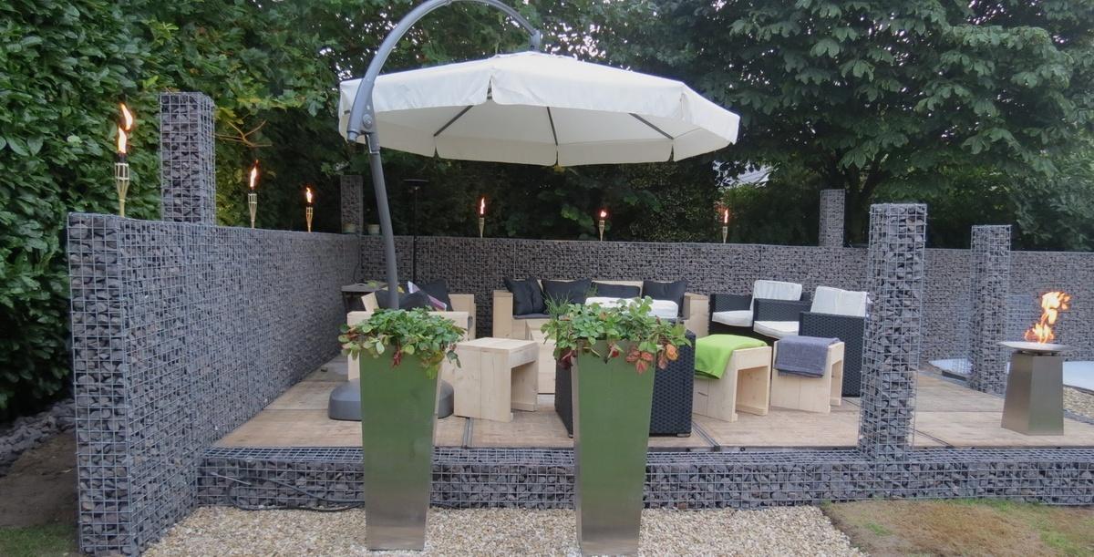 Sichtschutz im garten for Gartengestaltung sitzecke sichtschutz