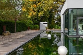 Moderner Garten liegt im Trend
