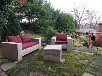 Bauholz Lounge Sofa von Exklusiv Dutch Design