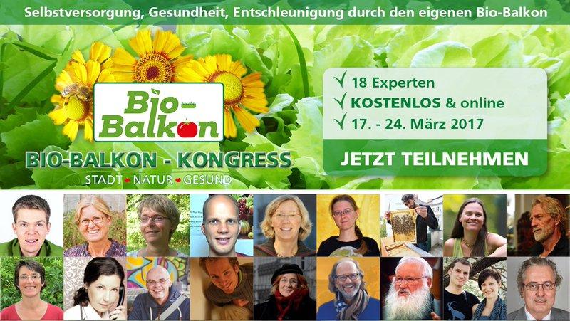 Herzliche Einladung zum kostenlosen Bio-Balkon Kongress