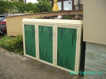 Mülltonnenbox aus Aluminium / Element13