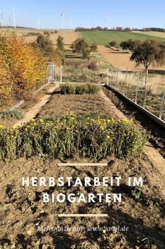 Herbstarbeit im Biogarten