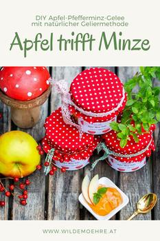 Apfel trifft Minze – herrliches Gelee nur mit Pektin aus Äpfeln geliert