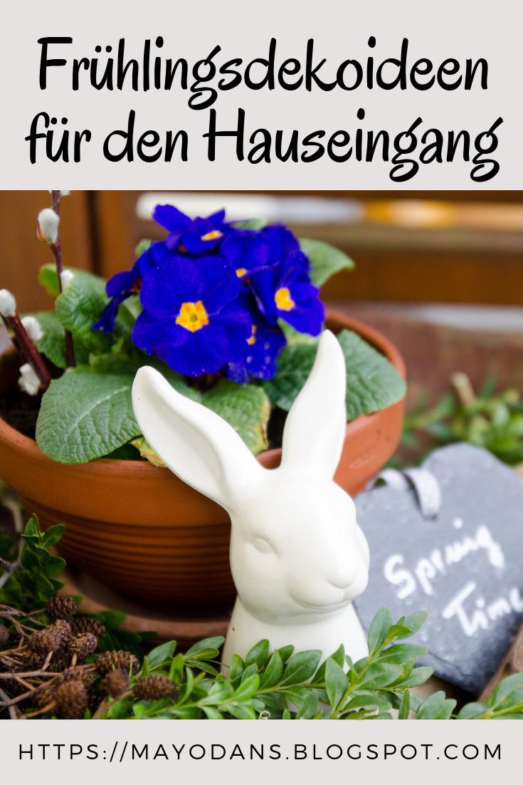 Frühlingsdekoideen für den Hauseingang