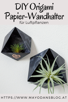Origami Papier-Wandhalter für Luftpflanzen
