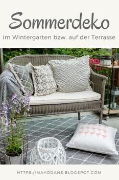 Sommerdeko im Wintergarten bzw. auf der Terrasse und ein DIY für Lampions