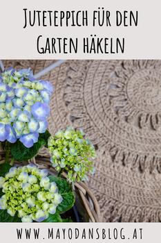 Juteteppich für den Garten häkeln