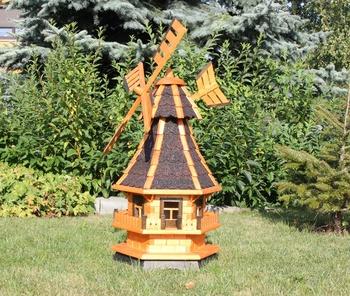 Gartenwindmühle aus Holz