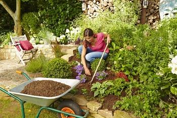 Beete und Rabatten mulchen
