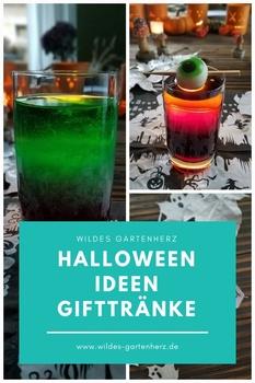 Halloween Ideen - Gifttränke und Tischkarten