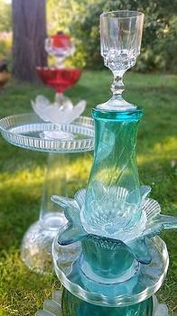 DIY Upcycling Vogel- oder Insektentränke aus Glas