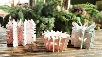 Für Weihnachten basteln - Plisseesterne
