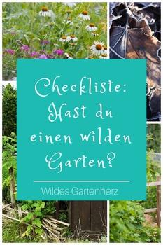 Checkliste: hast du einen wilden Garten?
