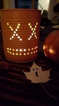 DIY Halloween Idee - Dosenkürbisse