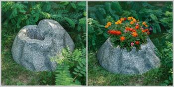Pflanzsteine im Garten