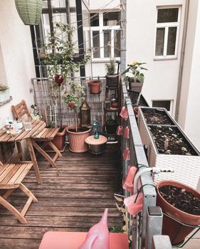 Den Balkon für die urbane Selbstversorgung nutzen